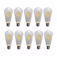 Combo 10 bóng led EDISON ST64 tiết kiệm năng lượng dùng cho trang trí phòng khách, phòng ngủ, quán cafe...