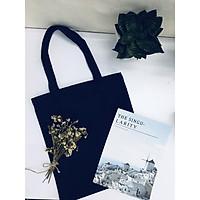 Túi vải canvas xanh đen có khóa GADY shop