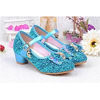 Giày công chúa Cinderela cao gót bé gái đính đá ngũ sắc từ 3 - 12 tuổi