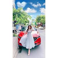 Đầm xoè dự tiệc công chúa kết hoa và cườm 6D TRIPBLE T DRESS -size M/L (kèm ảnh/video thật) MS296V