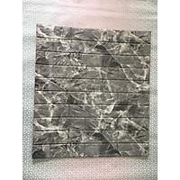 Bộ 10 tấm xốp dán tường 3D giả đá dày 6mm xám đậm