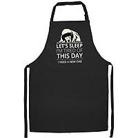 Tạp Dề Làm Bếp In Hình Poodle- Hàng Cao Cấp