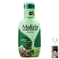 Sữa tắm hương gỗ thông và trà xanh Malizia Bath Foam 1000ml tặng kèm móc khóa