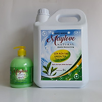 Sữa Rửa Tay Maylove Greentea 5 lít + KM 1 Chai SRT trà xanh 500ml