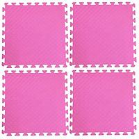 Bộ 4 tấm Thảm xốp lót sàn an toàn Thoại Tân Thành - màu hồng (60x60cm)