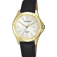Đồng hồ Nữ Citizen dây da EU6082-01A