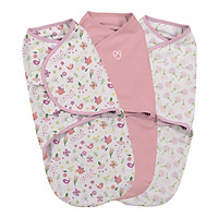 Bộ 3 Chăn Quấn Secret Garden  Girl Summer Infant (Original Swaddle - Secret Garden Girl- Small - 3Pk Bag)