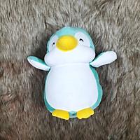 Thú nhồi bông chim cánh cụt màu xanh ngọc size 35cm