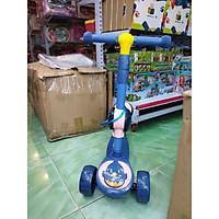 Xe trượt Scooter Có Đèn Led và Ghế Ngồi Tiện Lợi trẻ em 2 trong 1 - kiêm xe chòi chân 3 bánh