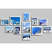 Bộ khung ảnh treo tường hòn đảo thiên đường tặng đinh 3 chân  KA248