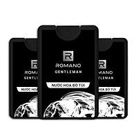 Combo 3 chai nước hoa bỏ túi Romano Gentleman 18ml*3