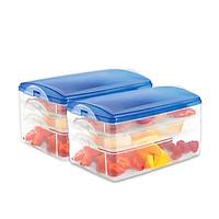 Combo 2 hộp đựng thực phẩm 3 tầng nhựa