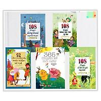 Combo Truyện Kể Cho Bé: 108 Truyện Đồng Thoại Hay Nhất Thế Giới + 108 Truyện Khoa Học Vui Lí Thú +  52 Câu Chuyện Hay Phát Triển Trí Tuệ + 365 Chuyện Kể Mỗi Ngày + 108 Truyện Cổ Tích Thế Giới Hay Nhất (Trọn bộ 5 cuốn) - Tặng kèm Bookmark thiết kế