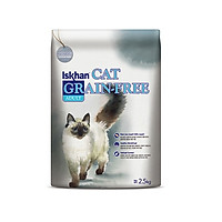 Thức ăn hạt Hàn Quốc ngừa dị ứng viêm da cho mèo trưởng thành Iskhan Cat Grain Free Adult 2.5kg