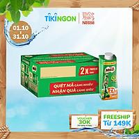 [Chỉ giao HN] [Phiên bản Scan mã đổi quà] Thùng 24 hộp sữa lúa mạch Nestlé Milo Teen Protein Canxi (24x210ml)