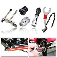 Bộ 5 dụng cụ sửa chữa xe đạp, dụng cụ tháo xích xe đạp, tháo trục bánh xe, tay quay, mở líp