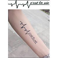 Hình Xăm Dán Tattoo Nhịp Tim C'est Lavie TNSTATTOO01-1