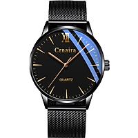Đồng Hồ Nam Crnaira Japan CR39 Siêu Mỏng mặt đồng hồ tròn, thiết kế đẹp mắt, sáng bóng với tính năng hiện đại cho phái mạnh tự tin, mạng mẽ và thời trang thiết kế ôm tay với Dây Thép Mành