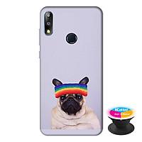 Ốp lưng điện thoại Asus Zenfone Max Pro M2 hình Cún Cưng Đội Nón Mẫu 1 tặng kèm giá đỡ điện thoại iCase xinh xắn - Hàng chính hãng