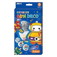Màu Vẽ Trang Trí Trên Kính Hình Rô Bốt Sun Deco Robot AMOS ASD-R (6 Màu)