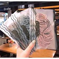 Túi 100 sợi thun cột tóc Hàn Quốc du lịch siêu dễ thương