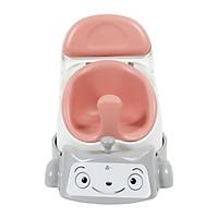 Combo xe đẩy và ghế đa năng trẻ em Jellymom (Xe đẩy xám + Ghế hồng đào)