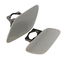 2x Front Bumper Headlight Washer Covers Cap Unpainted Trim  for   E92/E93 3