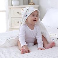 Khăn quấn siêu mềm cho bé sơ sinh tặng kèm dụng cụ tưa lưỡi cho bé