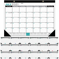 Wall Calendar 2021-2022 Monthly Calendar Planner from July 2021 to December 2022 17 x 12 Inches Twin-Wire Bound with