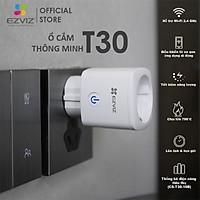 EZVIZ Ổ CẮM THÔNG MINH T30, Kết nối WI-FI, Điều Khiển Từ Xa Qua Ứng Dụng Di Động, Lên Lịch Hẹn Giờ, Chịu Lửa 750°C, Tiết kiệm năng lượng,Điều khiển bằng giọng nói GOOGLE&ALEXA --Hàng Chính Hãng