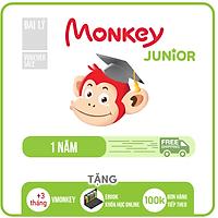Monkey junior (Mã Giấy) Phần mềm học tiếng Anh cho bé 0 - 10 tuổi trên (Trọn đời, 4 năm, 2 năm, 1 năm)