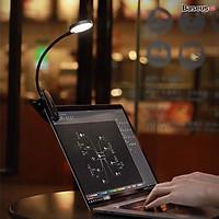 Đèn đọc sách mini, pin sạc tiện dụng Baseus Comfort Reading Mini Clip Lamp ( Dịu mắt, chân kẹp, 3 mức sáng, 350mAh, 24h sử dụng)hàng nhập khẩu