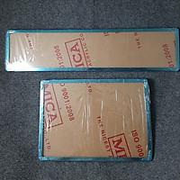 Full Bộ Khung Biển Số Dành Cho Ô Tô Inox Trước Sau MS2374 - Tặng Thêm 1 Pin AAA Maxell