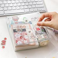 Túi Đựng Dụng Cụ Học Tập Nhựa Hàn Quốc Chống Nước