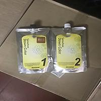 Nhuộm túi phủ bạc thảo dược thời trang màu nâu sáng  (Hàn Quốc) mugens sansuhwa down color light brown  2 x 450g