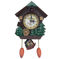 Cuckoo House Wall Clock Cartoon Children's Room Decorated Wall Clock The Hour Music Tells The Time