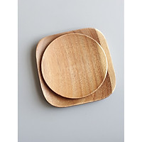 Khay, dĩa gỗ hình vuông, tròn. elip đẹp