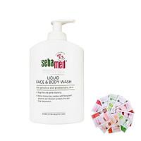 Sữa rửa mặt và tắm toàn thân cho da nhạy cảm Sebamed pH5.5 Liquid Face Body Wash 300ml + Tặng ngay 1 mặt nạ Dermal bất kỳ