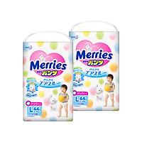 Combo 2 Tã/bĩm quần Merries size L - 44 miếng...