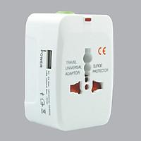 Ổ Cắm Du Lịch Đa năng MPE TA3 - 1 Cổng USB - Hàng Chính Hãng
