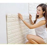 Combo 5 tấm xốp dán tường giả gạch màu trắng dày 5mm