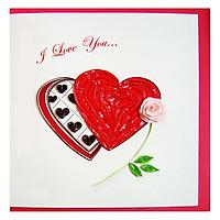 Thiệp Giấy Xoắn GX Love Việt Net VN2NN115S62NN (15 x 15 cm)
