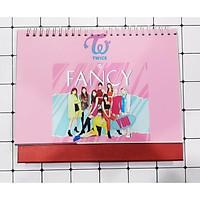 Lịch để bàn 2020 twice size lớn 17x21cm trưng bày trang trí in hình nhóm nhạc idol Hàn Quốc tặng thẻ Vcone