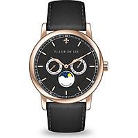 Đồng hồ nam Fleur De Lis ACE Moonphase-01 hàng chính hãng chống nước mặt shaphire 41mm dây da cao cấp