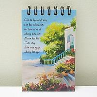 Quà tặng động viên - Sổ tay sống đẹp (sổ gáy lò xo, mỗi trang sổ bên trong đều có một thông điệp khác nhau)