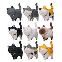 Bộ 09 Mô Hình Mèo Kawaii Dễ Thương