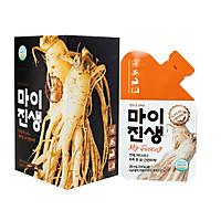 Nước Sâm Hàn Quốc My Ginseng (Hộp x 10 gói) - Hàng Nhập Khẩu -Tăng cường sinh lý, hỗ trợ người cao huyết áp tiểu đường, tăng cường sức đề kháng người ốm yếu, phụ nữ sau sinh, cho người già và trẻ em
