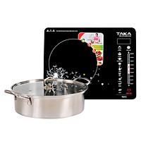 Bếp Điện Từ Đơn Taka TKI1C (2000W) - Tặng Nồi Lẩu - Hàng chính hãng