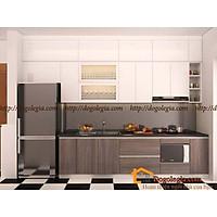 Độc Đáo Với Mẫu Tủ Bếp Gỗ Hiện Đại LG-TB016
