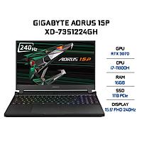 Laptop Gigabyte AORUS 15P XD-73S1224GH (Core i7-11800H/ 16GB (8x2) DDR4 3200MHz/ 1TB SSD M.2 PCIE G3X4/ RTX 3070 8GB GDDR6/ 15.6 FHD IPS, 240Hz/ Win10) - Hàng Chính Hãng